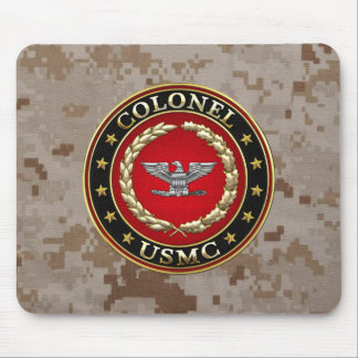 U.S. Marines: Colonel (USMC Col) [3D] Mouse Pad