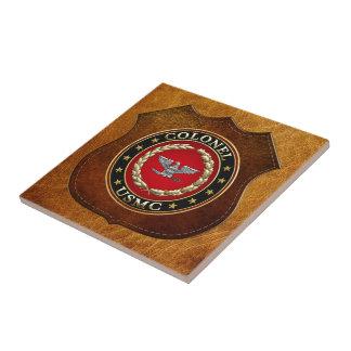 U.S. Marines: Colonel (USMC Col) [3D] Small Square Tile