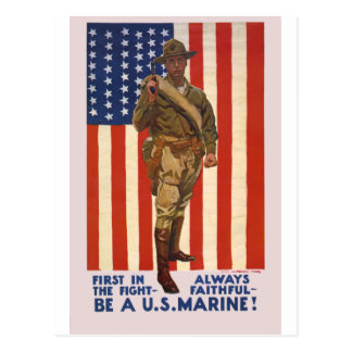 U.S. MARINES First In The Fight Always Faithful Postcard