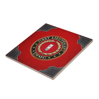 U.S. Marines: First Lieutenant (USMC 1stLt) [3D] Small Square Tile