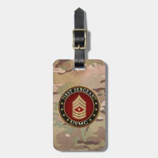 U.S. Marines: First Sergeant (USMC 1stSgt) [3D] Bag Tag