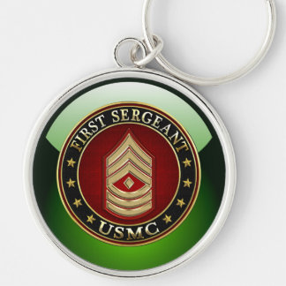 U.S. Marines: First Sergeant (USMC 1stSgt) [3D] Keychain