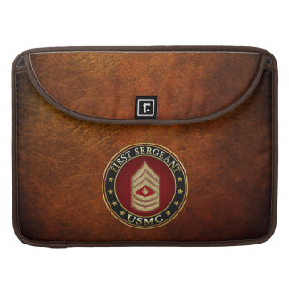 U.S. Marines: First Sergeant (USMC 1stSgt) [3D] MacBook Pro Sleeve