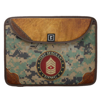 U.S. Marines: First Sergeant (USMC 1stSgt) [3D] Sleeves For MacBook Pro