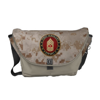 U.S. Marines: First Sergeant (USMC 1stSgt) [3D] Courier Bags