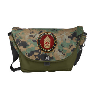 U.S. Marines: First Sergeant (USMC 1stSgt) [3D] Messenger Bags