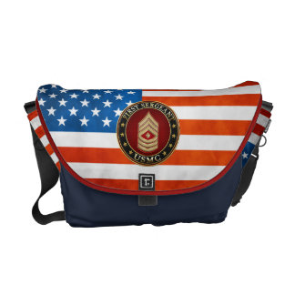 U.S. Marines: First Sergeant (USMC 1stSgt) [3D] Messenger Bag