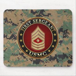 U.S. Marines: First Sergeant (USMC 1stSgt) [3D] Mouse Pad