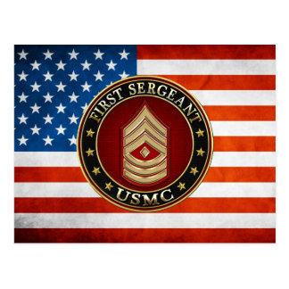 U.S. Marines: First Sergeant (USMC 1stSgt) [3D] Postcard