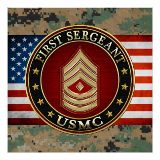 U.S. Marines: First Sergeant (USMC 1stSgt) [3D] Print
