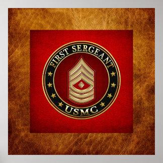 U.S. Marines: First Sergeant (USMC 1stSgt) [3D] Posters