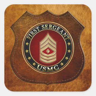 U.S. Marines: First Sergeant (USMC 1stSgt) [3D] Square Sticker