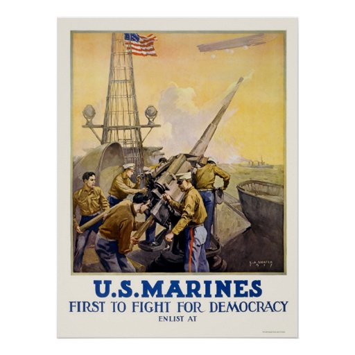 U.S. Marines - First to Fight for Democracy Print