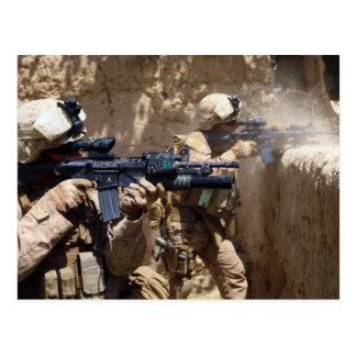 U.S. Marines in Helmand Province of Afghanistan Postcard