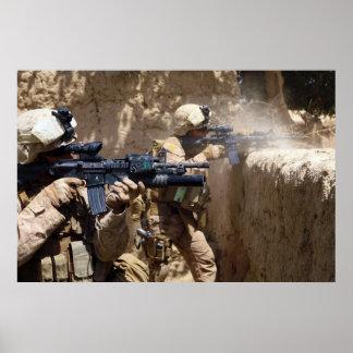 U.S. Marines in Helmand Province of Afghanistan Poster
