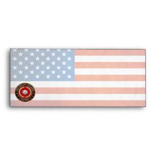 U.S. Marines: Lieutenant Colonel (USMC LtCol) [3D] Envelope