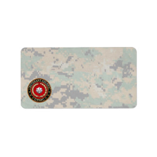 U.S. Marines: Lieutenant Colonel (USMC LtCol) [3D] Address Label