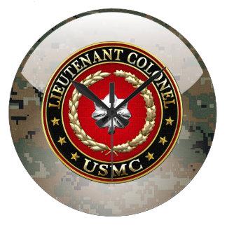 U.S. Marines: Lieutenant Colonel (USMC LtCol) [3D] Large Clock