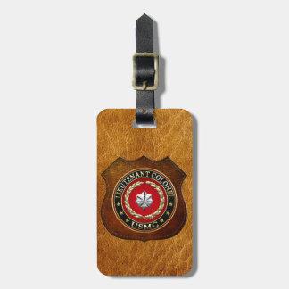 U.S. Marines: Lieutenant Colonel (USMC LtCol) [3D] Luggage Tag