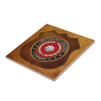 U.S. Marines: Lieutenant Colonel (USMC LtCol) [3D] Small Square Tile