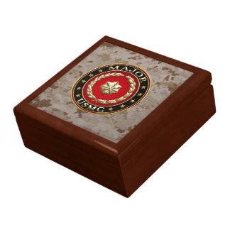 U S Marines Major USMC Maj 3D Trinket Box
