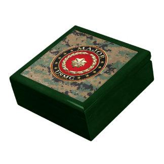 U S Marines Major USMC Maj 3D Keepsake Box
