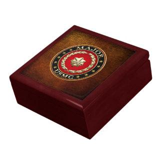 U S Marines Major USMC Maj 3D Jewelry Box