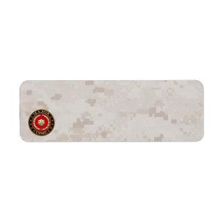 U.S. Marines: Major (USMC Maj) [3D] Return Address Label