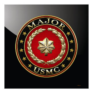 U.S. Marines: Major (USMC Maj) [3D] Poster