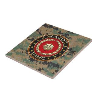U.S. Marines: Major (USMC Maj) [3D] Small Square Tile