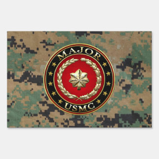 U.S. Marines: Major (USMC Maj) [3D] Sign