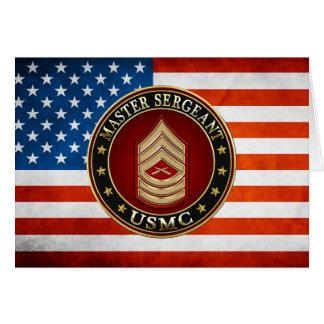 U.S. Marines: Master Sergeant (USMC MSgt) [3D] Card
