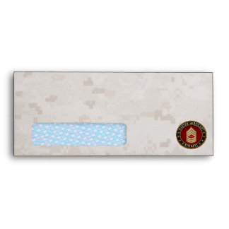 U.S. Marines: Master Sergeant (USMC MSgt) [3D] Envelope