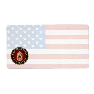U.S. Marines: Master Sergeant (USMC MSgt) [3D] Label