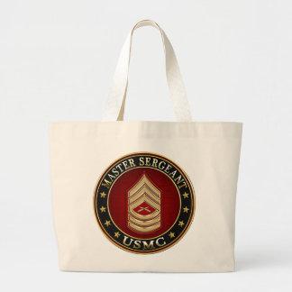 U.S. Marines: Master Sergeant (USMC MSgt) [3D] Large Tote Bag