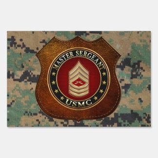 U.S. Marines: Master Sergeant (USMC MSgt) [3D] Lawn Sign