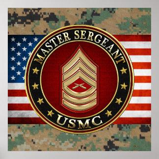 U.S. Marines: Master Sergeant (USMC MSgt) [3D] Posters