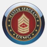 U.S. Marines: Master Sergeant (USMC MSgt) [3D] Stickers