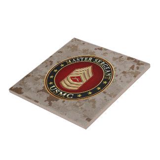 U.S. Marines: Master Sergeant (USMC MSgt) [3D] Small Square Tile