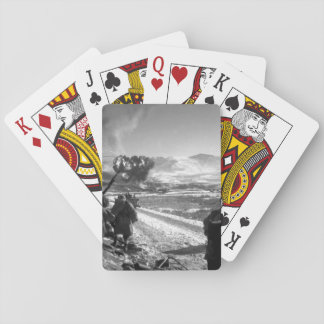 U.S. Marines move forward after_War Image Playing Cards