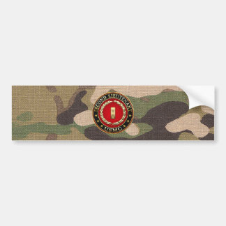 U.S. Marines: Second Lieutenant (USMC 2ndLt) [3D] Car Bumper Sticker