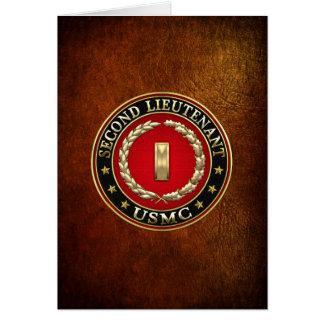 U.S. Marines: Second Lieutenant (USMC 2ndLt) [3D] Card