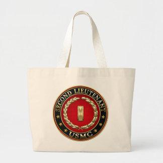 U.S. Marines: Second Lieutenant (USMC 2ndLt) [3D] Large Tote Bag