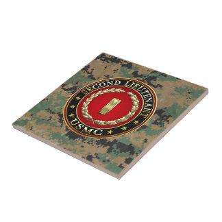 U.S. Marines: Second Lieutenant (USMC 2ndLt) [3D] Small Square Tile