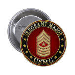 U.S. Marines: Sergeant Major (USMC SgtMaj) [3D] Buttons