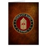 U.S. Marines: Sergeant Major (USMC SgtMaj) [3D] Greeting Card