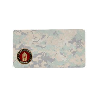 U.S. Marines: Sergeant Major (USMC SgtMaj) [3D] Label