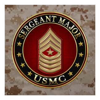 U.S. Marines: Sergeant Major (USMC SgtMaj) [3D] Posters