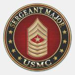 U.S. Marines: Sergeant Major (USMC SgtMaj) [3D] Round Sticker