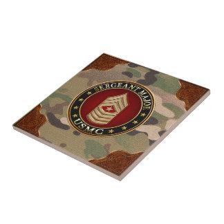 U.S. Marines: Sergeant Major (USMC SgtMaj) [3D] Small Square Tile